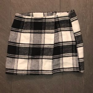 Plaid fleece skirt